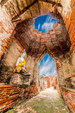 Arkeologisk plats på Ayutthaya royaltyfria bilder