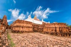 Arkeologisk plats på Ayutthaya arkivbilder
