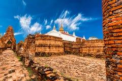 Arkeologisk plats på Ayutthaya royaltyfri fotografi
