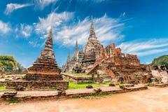 Arkeologisk plats på Ayutthaya royaltyfri bild