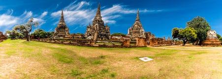 Arkeologisk plats på Ayutthaya arkivbild