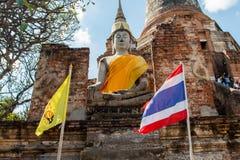 Arkeologisk plats på Ayutthaya royaltyfria foton