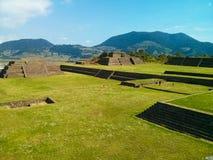 Arkeologisk zon av Teotenango, Mexico Arkivbild