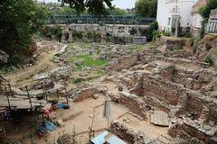 Arkeologiska Dig Site i Grekland Royaltyfria Bilder
