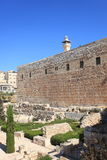 Arkeologiska Jerusalem parkerar, den södra väggen Royaltyfri Fotografi