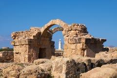 Arkeologiska Paphos parkerar på Kato, Pafos, Cypern Arkivfoton
