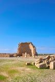 Arkeologiska Paphos parkerar på Kato Pafos i Cypern Arkivfoton