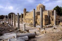 Arkeologiska platser av Pafos, Cypern Royaltyfri Fotografi