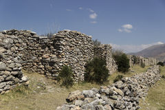 Arkeologiska rest av Arwaturo - Junin - Peru arkivbilder