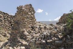Arkeologiska rest av Arwaturo - Junin - Peru Arkivfoto