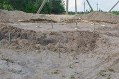 Arkeologiska utgrävningar av bosättningar sjutusen år sedan royaltyfri foto