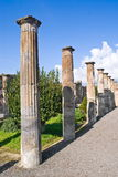 Arkeologiska utgrävningar av Pompeii, Italien Royaltyfria Foton