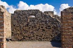 Arkeologiska utgrävningar av Pompeii, Italien Royaltyfri Bild