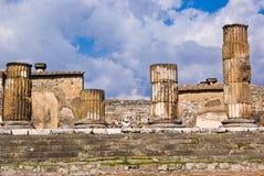 Arkeologiska utgrävningar av Pompeii, Italien Arkivbild