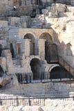 Arkeologiska utgrävningar i den gamla staden av Jerusalem Arkivbild