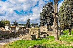 Arkeologiskt fördärva av den forntida romerska staden, Pompeii, Campaniaregionen, Italien royaltyfri foto