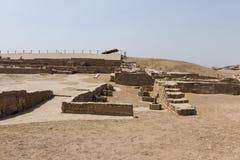 Arkeologiskt komplex av Pachacamac i Lima Arkivfoto