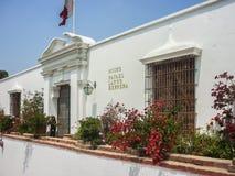 Arkeologiskt Larcomar museum i Lima Peru Royaltyfri Bild