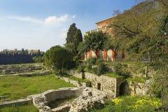 Arkeologiskt museum av Nice-Cimiez Arkivfoton