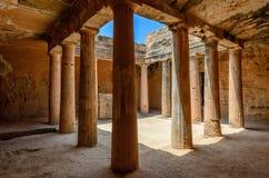 Arkeologiskt museum i Paphos på Cypern Arkivbild