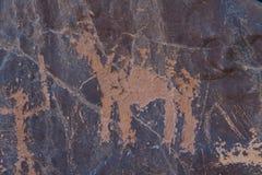Arkeologiskt och grafitti på stenar fotografering för bildbyråer