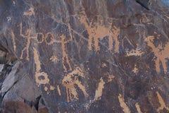 Arkeologiskt och grafitti på stenar royaltyfria bilder