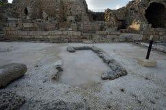 Arkeologiskt parkera av Caesarea Arkivbilder