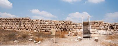 Arkeologiutgrävningar i Israel Arkivfoto