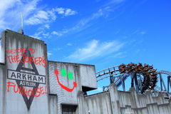 Arkham Asylum theme park setting Royalty Free Stock Photography
