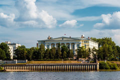 Arkhangelsk. A city court building on embankment of Northern Dvi Stock Photography