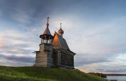 Arkhangelsk oblast, en by Vershinino, St Nicholas kapell Kenozero nationalpark Royaltyfri Bild