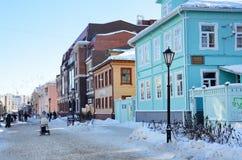 Arkhangelsk, Rosja, Luty, 20, 2018 Arkhangelsk muzeum piernikowy kozulya na Chumbarov-Luchinsky perspektywie, dom 37 zdjęcie royalty free