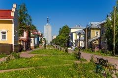 Arkhangelsk, Rusia Perspectiva Chumbarova-Lucinschi Fotografía de archivo libre de regalías