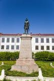 Arkhangelsk Ryssland Monument till Peter I det stort Royaltyfria Foton
