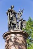 Arkhangelsk Ryssland Monumentet till Met V Lomonosov 1829 Royaltyfri Foto