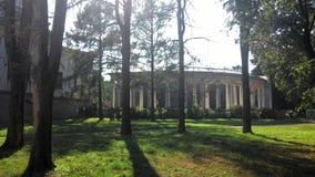 Arkhangelskoye庄园的柱廊 免版税库存图片