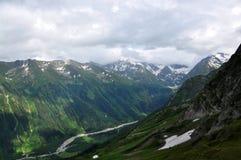 Arkhyz. Passe Sófia. Montanhas de Cáucaso Foto de Stock Royalty Free