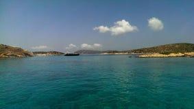 Arki och Marathos öar Arkivfoto