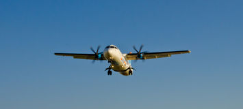 Arkia airplane. Is arriving to Tel Aviv's airport Royalty Free Stock Images