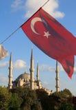 arkif μπλε ersoy τουρκική όψη της Τουρκίας sultanahment πάρκων μουσουλμανικών τεμενών της Κωνσταντινούπολης μ σημαιών Arkif Ersoy Στοκ Εικόνα