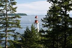 Arkinson Lighthouse in West Vancouver, Canada, photographed from a different angle stock image