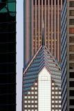 arkitektchicago skymning Fotografering för Bildbyråer