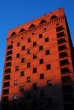 arkitektchicago skymning Arkivfoto