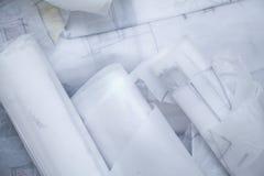 arkitekten skissar Arkivbild