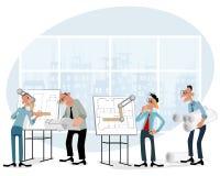 Arkitekter i regeringsställning royaltyfri illustrationer