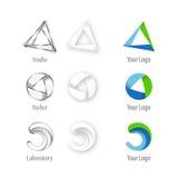 arkitektföretagslogo vektor illustrationer