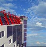 arkitektonisk bakgrundsbyggnadsöverkant Arkivbilder