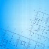 Arkitektonisk blåttbakgrund. Royaltyfri Bild