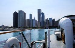 arkitektonisk chicago kryssning arkivfoton