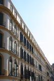 arkitektonisk de detalj la malaga merced plazaen Royaltyfri Fotografi